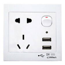 PRESA A MURO INTERNAZIONALE NZ-AUS-US E DOPPIA USB CON INTERRUTTORE ON/OFF