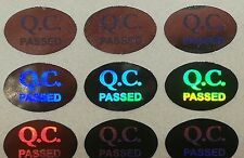QC Quality Control Passed Hologram Stickers Labels Anti Tamper Labels Security