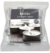 BALTUS 8hr BURN QUALITY TEA LIGHT NIGHT LIGHT UNSCENTED TEALIGHT CANDLE CANDLES