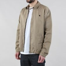 Carhartt WIP Men's Madison Regular Fit Jacket Leather Beige Navy Rinsed