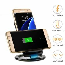 For iPhone X 8 Plus Samsung S9/+ QI Wireless Fast Charger Charging Dock Stand