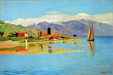 Stampa su legno The port of Pully - Felix Edouard Vallotton