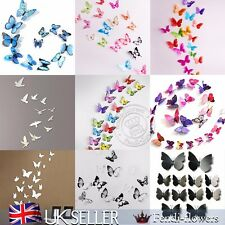 18pcs 3D mariposa pegatina pared calcomanía arte decoración hogar decoración PVC