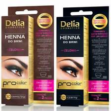 DELIA HENNA GEL Professional TINT KIT For Eyebrows & Eyelashes Dark Brown/Black