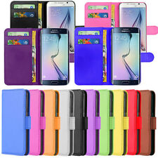 Premium PU Leather Wallet Book Side Flip Pouch Case Cover For Samsung Galaxy