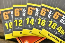"""GURU 6"""" X-STRONG READY TIED RIGS - 8 RIGS PER PACK CARP BARBLESS"""