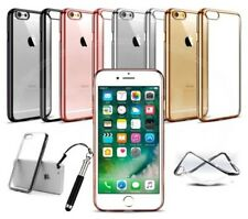 "Apple iPhone 6s (4.7"") - Fino Gel Transparente Efecto Cromo Borde Funda &"