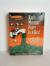 1996 Kid's Mystery Party in a Box The Mystery of the Split Pea Ooze Game New