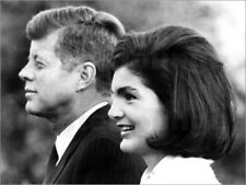 Stampa su tela John F. Kennedy and Jacqueline Kennedy