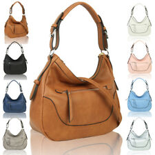 Ladies Women's Multi Pocket Tote Hobo Shopper Crossbody Shoulder Bag Handbag