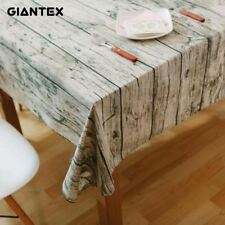Tablecloth Wood Grain Pattern Decorative Table Cloth Cotton Linen Dining Covers