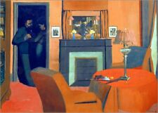 Stampa su tela The red room - Felix Edouard Vallotton