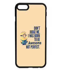 MINIONS - Don't Judge Me Quote - Rubber Hard Phone Case D20 for iPhone & Samsung