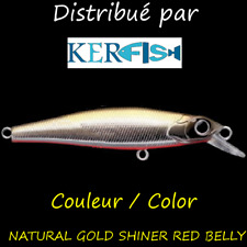 Leurre poisson nageur Head Up Jerker PAYO NATURAL GOLD SHINER RED BELLY TRUITE