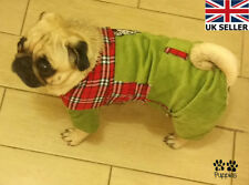 Fustian Bodysuit Checkered Coat Jacket Outfits Winter Halloween Pet Dog Clothes