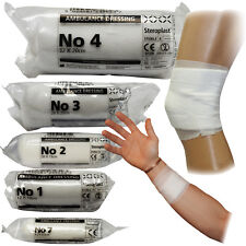 Steroplast Emergency First Aid Medical Ambulance Dressings, 5 Sizes No1-7