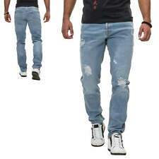Jack & Jones Herren Jeans Slim Fit Stretch Distressed Denim Herrenhose Jeanshose