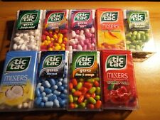 NEW Tic Tac MIXERS SWEETS 49g PEACH COLA MINT COCONUT LIME APPLE STRAWBERRY ect