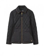 JOULES Marchesa Quilted Black Jacket Sz 8 RRP£99.95 Free UK P&P