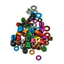 """DMR 14mm 3/8"""" 9.5mm """"Nutz"""" 7075 coloured Alloy wheel Nuts and washers"""