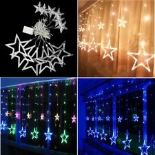 LED Star Curtains Decor Light Window String Fairy Lamp for Home Party Decoration