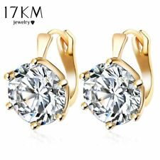 Crystal Stud Earring Gold Plated Punk Statement Vintage Earrings Wedding Jewelry