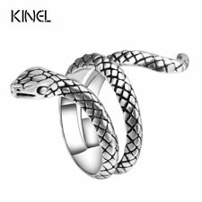 Women Snake Ring Metals Alloy Silver Plated Punk Rock Rings Vintage Jewelry Sale