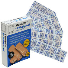 Steroplast 16 Assorted Washproof Water Resistant Tan Colour Dressing Plasters