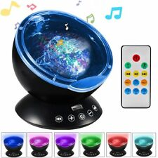 New Music Ocean Wave Relaxing Projector LED Night Lights Remote Lamp Kids Gift