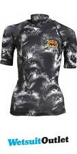 2017 Billabong Ladies Surf Capsule Short Sleeve Rash Vest BLACK SANDS C4GY05