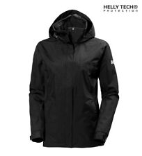 Helly Hansen - Chubasquero Aden negro  -Helly Tech® Protection- Mujer chica