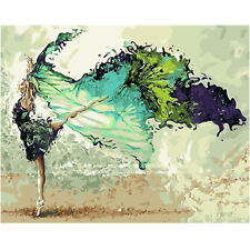 DIY Dancer Dancing Hand Painted Oil Painting By Numbers Kit Home Decor 40x50CM