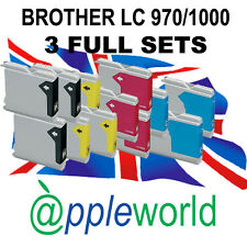 3 Sets de Cartuchos tinta compatible con LC970 / LC1000 [not Brother original]