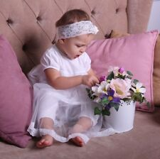 Baby Girl Christening Gown Infant Special Occasion Dress Toddler Baptism Set