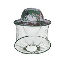 Camouflage Mosquito Bug Insect Net Bee Mesh Head Face Protect Fishing Fly Hat