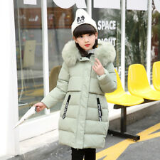 Girls Jacket Down Coat Hooded Baby Winter Outwear Mouse Toddler Snow Fur Collar