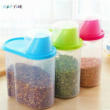 Food Kitchen Storage Box  Plastic Container Grain Bread Rice Cereal Bean Keeper
