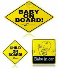 UK BABY ON BOARD CHILD SAFETY WITH SUCTION CUPS CAR VEHICLE SIGNS CHILD ON BOARD