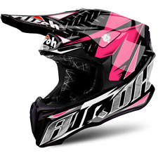 CASCO CROSS AIROH TWIST IRON ROSA / BLANCO / NEGRO / GRIS TAMAÑOS XS < L