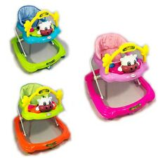Baby Walker First Steps Push Along Bouncer Activity Cow Music Ride On Child