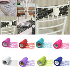 LC_ Tulle Lace Roll Spool for Tutu Skirt DIY Wedding Party Chair Table Decor N