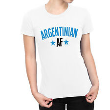 ARGENTINIAN AF LADIES Argentina T-Shirt FOOTBALL World Cup 2018 Sports Top