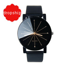 Fashion & Casual Wrist watch Quartz Gift for Him Her Stainless Steel PU leather