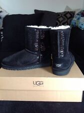 Gorgeous New Sequin Ugg Boots UK 4 Black