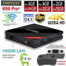 H96 Pro Plus 4K HD Android 7.1 Smart TV Box Octa Core Amlogic S912 2.4G/5G Wifi
