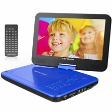 """10.5"""" Portable DVD Player with Rechargeable Battery, Swivel Screen, SD"""