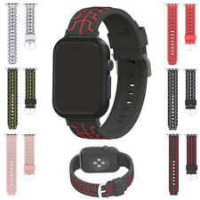 For Apple Watch iWatch 38mm/42mm Silicone Fish Oracle Bone Watch Band Strap
