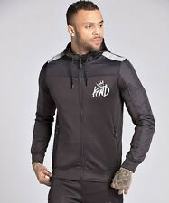 Kings Will Dream KWD Tracksuit Top Poly Zipped Reflective Hoodie Black Kommack