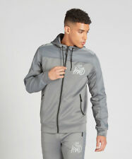 Kings Will Dream KWD Tracksuit Top Poly Zipped Reflective Hoodie Grey Kommack