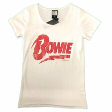 David Bowie Logo Name Amplified Ladies Official T Shirt Brand New Various Sizes